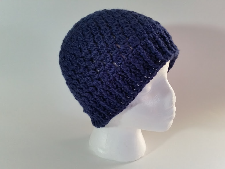 navy bobble hat crochet