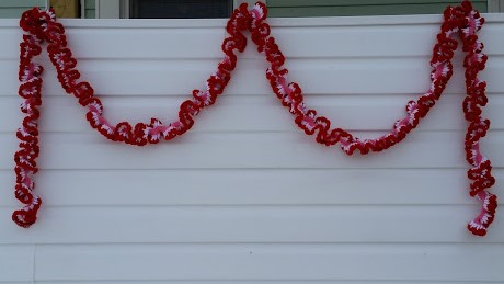 valentine's day crochet heart love garland holiday