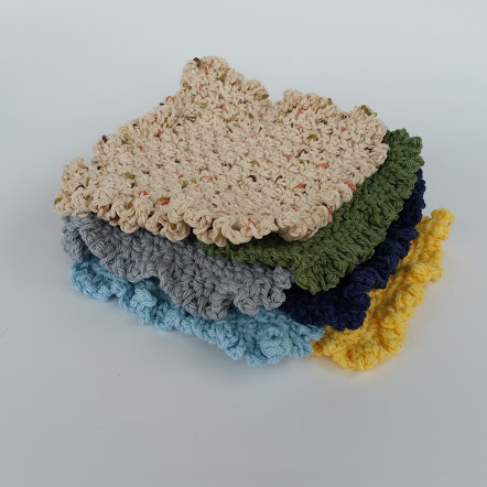 ruffle dishcloth washcloth crochet