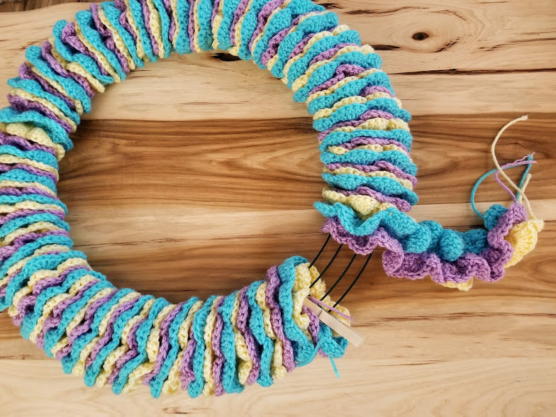 Easter Wreath Free Crochet Pattern Highland Hickory