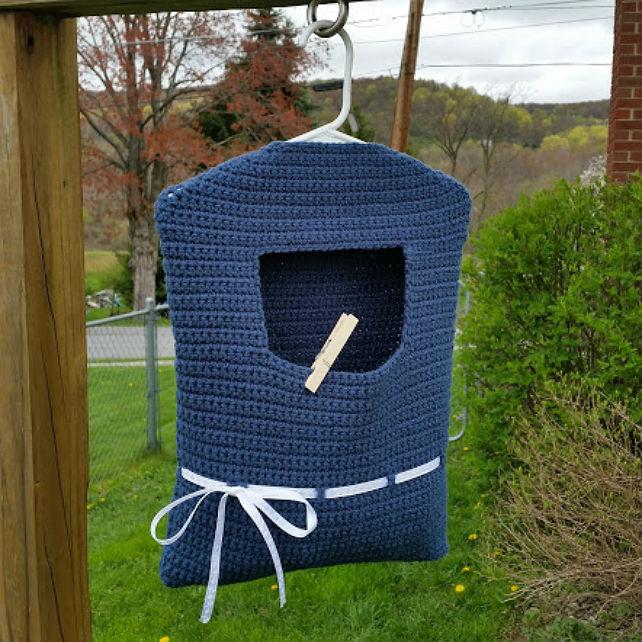 Blue Ribbon Clothespin Bag Highland Hickory Designs